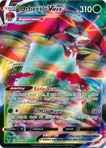 1x Pokemon SWSH4 Vivid Voltage Orbeetle VMAX 021//185 Utra Rare NM-Mint