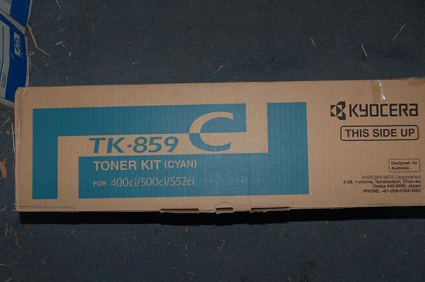 Genuine KYOCERA TK-859 CYAN Toner Cartridge for 400ci 500ci 552ci TK-859C