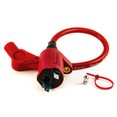 Creative Factory POSH Ignition Coil for Honda Ruckus with Bonus Stickers IG Red