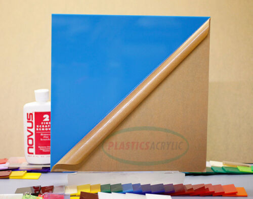 "Blue-Light Translucent Acrylic Plexiglass sheet 1//8/"" x 12/"" x 12/"" 2-pack #2648"