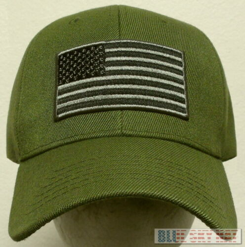 TACTICAL MILITARY SPECIAL FORCES OPERATOR AMERICA PATCH USA FLAG CAP HAT OLIVE