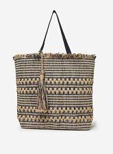Dorothy Perkins Womens Multi Beach Shopper Bag Zip Top Closure One Handle