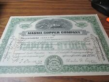 Vintage Stock Certificates - 1942 Magma Copper Company