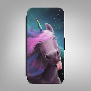 CUTE-UNICORN-RAINBOW-HORSE-LEATHER-FLIP-WALLET-PHONE-CASE-COVER-IPHONE-SAMSUNG