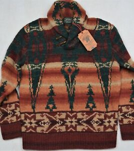 Construir sobre Desear pastel  Polo Country Ralph Lauren Southwestern Shawl Collar Wool Sweater L NWT $798  789023257645   eBay