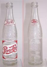 Vintage Pepsi Cola Soda Bottle Double City 10 oz. Charlotte - Gastonia NC 1962