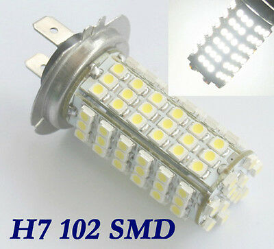 4X KFZ Auto H7 102 SMD LED Birne Licht Lampe Birne Weiß 12V DC