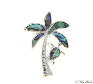 925-Sterling-Silver-Hawaiian-Honu-Turtle-Palm-Tree-Abalone-Paua-Shell-Pendant