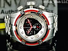 Invicta Men's 53mm Reserve Bolt Zeus Swiss Chrono Black Dial Red Cables SS Watch