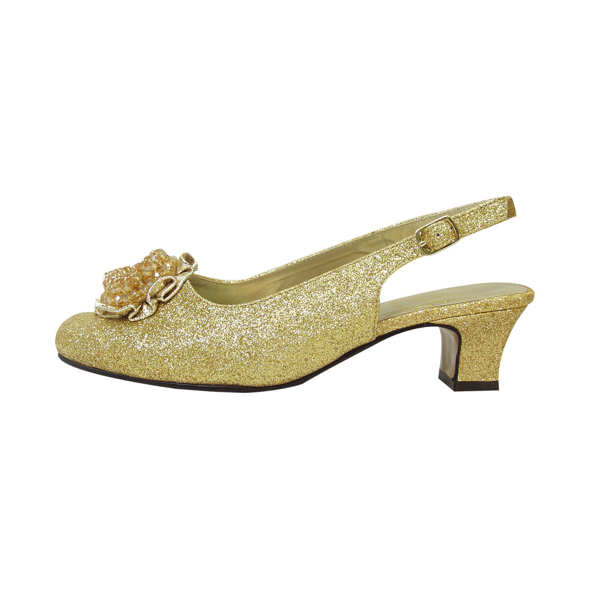 FIC with FLORAL Dara Damens Wide Width Dress Slingback with FIC Flower Bow for Evening b32e4a