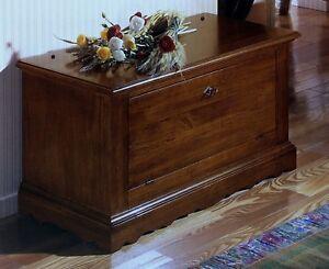 Credenza Con Chiave : Mobile cassapanca in legno colore noce con chiave doppia