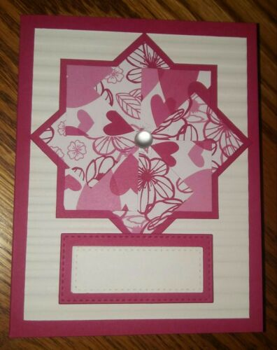 You choose the sentiment Stampin up card making kit All My Love Pinwheel