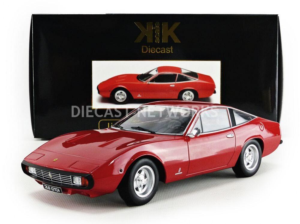 KK SCALE MODELS 1971 Ferrari 365 GTC4 Red LE of 1500 1 18 Scale New Release