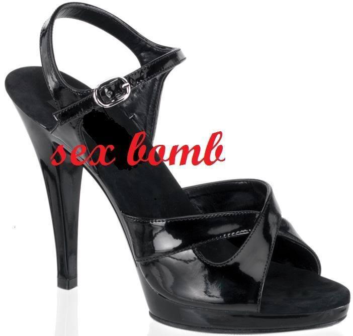 SEXY sandali neri con cinturino tacco 11 numero 38 fashion GLAMOUR