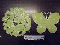 Deckchen Schmetterling Grün 2 Motive Ca 28x22 Cm Oder Ca 30 Cm Rund Neu