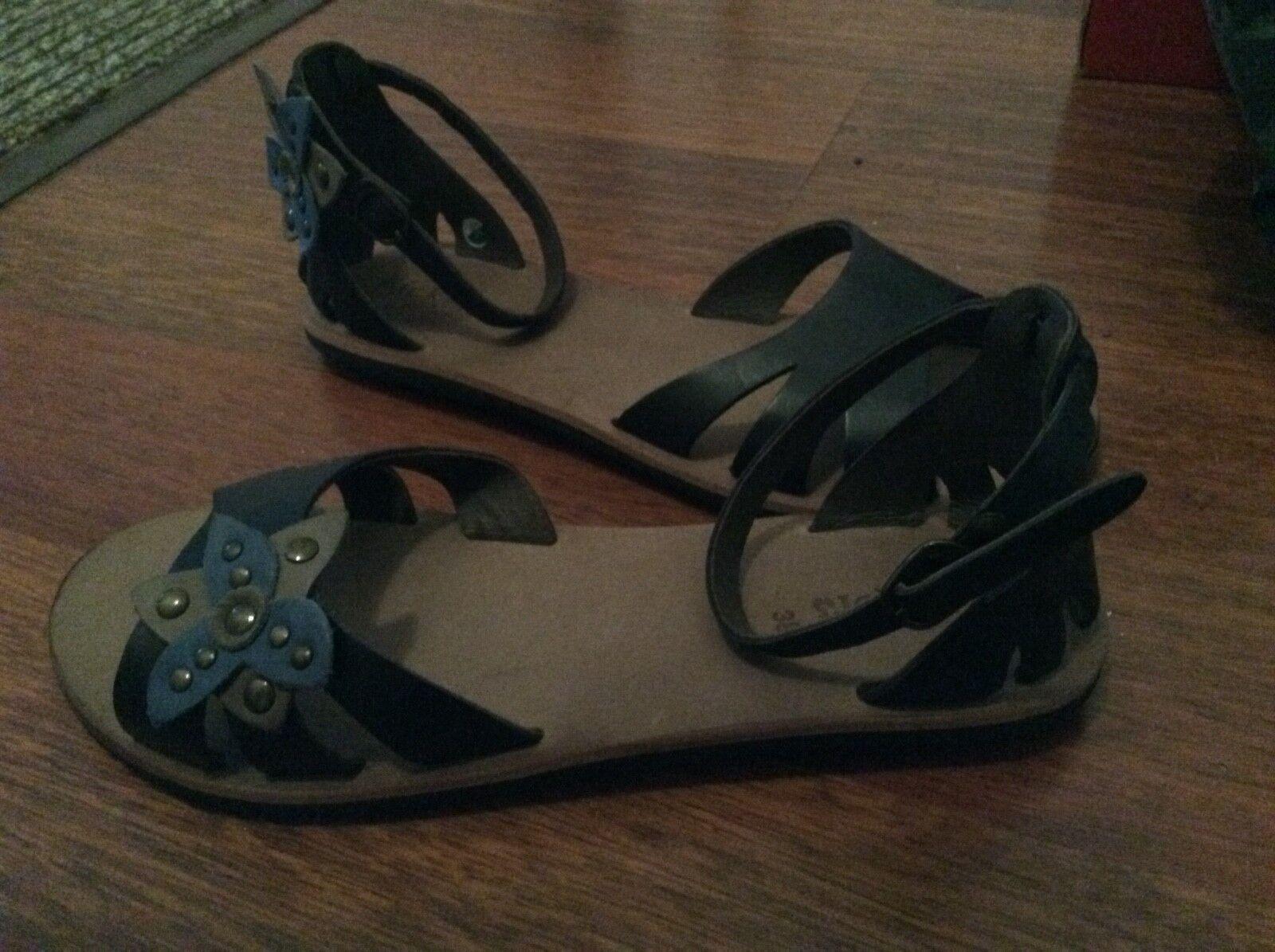 femmes kickers () bleu spartwin cheville sandales en cuir taille 5 () kickers f28206