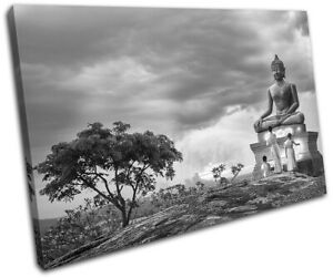 Buddha-Temple-Buddhist-Monk-Religion-SINGLE-CANVAS-WALL-ART-Picture-Print