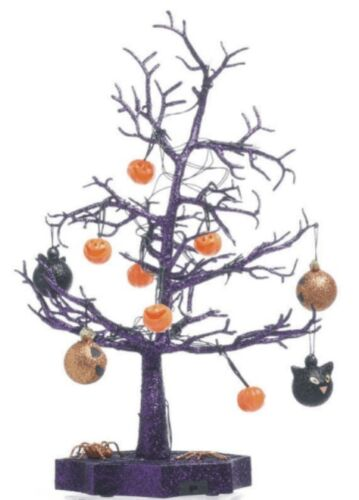 Halloween Decoration Glitter Haunted Tree Table Centerpiece LED Lights village