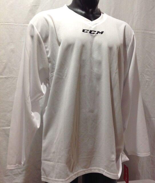 CCM Hockey Senior Adult White 5000 Practice Jersey  51c5020bd0f