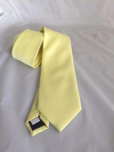 """Bébé jaune en polyester pour homme tie-cravate /> classique 3.3/"""" = 8 cm /> p/&p 2UK /> 1st Classe"""