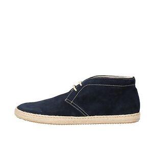 men's shoes DOCKSTEPS 12 (EU 45) desert boots blue suede AG841-E5