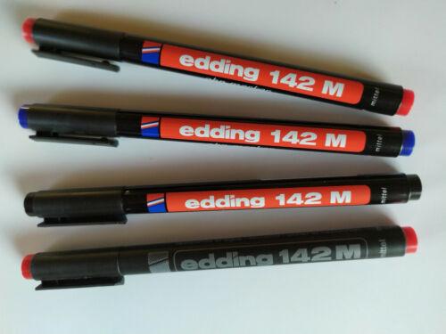 blau rot oder schwarz permanent 1 mm Edding 142 M OHP-Marker