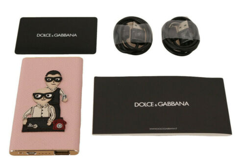 DOLCE /& GABBANA Power Bank Charger USB Pink Leather #DGFAMILY 3000mAh RRP $440