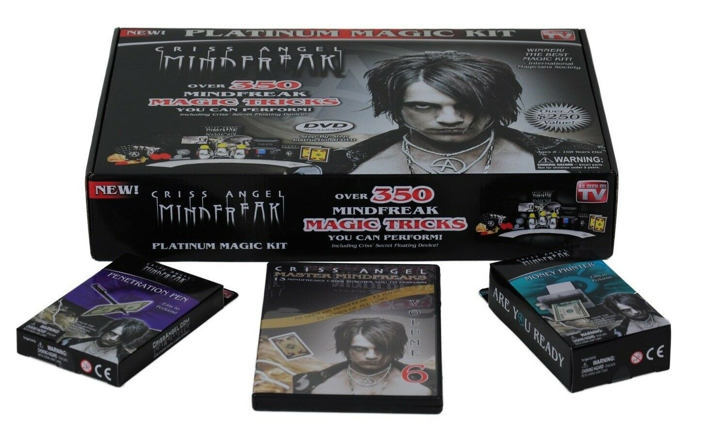 Criss Angel Mind Freak Platinum Magic Kit + Penetration Pen Pen Pen + Money Printer NEW c46710