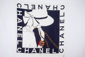 CHANEL-88cm-Large-Format-Scarf-100-Silk-Coco-Chanel-Silhouette-Navy-3154k