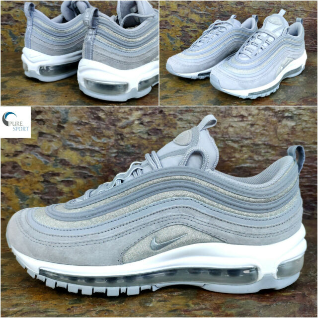 Details about WOMEN'S NIKE AIR MAX 97 UK SIZE 4 GLITTER WOLF GREY (AT0071 001)