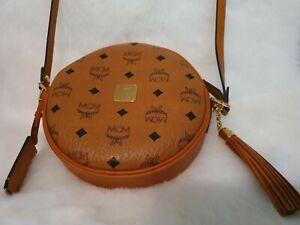 Details zu MCM Heritage Tamburin Handtasche Bag Umhängetasche