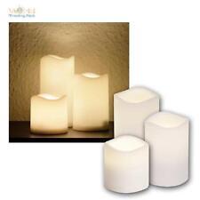 LED Kerze mit Timer 3er Set für Außen Outdoor-Kerzen flammenlos elktrisch candle