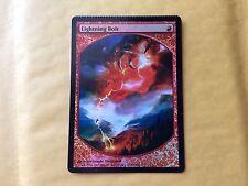 Crimped Foil Lightning Bolt Textless Promo Misprint MTG Magic Card (Top Crimp)