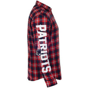premium selection efe4f aac79 NEW ENGLAND PATRIOTS Flannel NFL Wordmark Long Sleeve Shirt ...