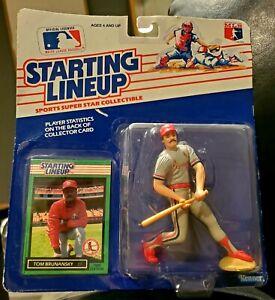 BN ~1989 MLB STARTING LINEUP ~TOM BRUNANSKY ~ST LOUIS CARDINALS ~FREE SHIPPING~