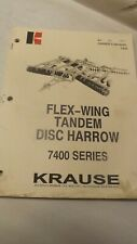 Krause Owners Manual For 7400 Series Flew Wing Disc Harrow