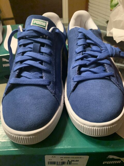 low priced 25d1f a0eac PUMA Suede Classic Shoes Olympian Royal Blue White Casual Men SNEAKERS  352634-64 13