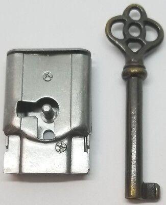 Full Mortise Lock Skeleton Key 1 1 2 X 1 Right Antique Vintage Old Desk Drawer Ebay