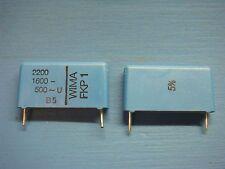 (50) WIMA FKP1 2200/1600/5 2200pF .0022uF 1600V 5% 22.5mm PP FILM CAPACITOR