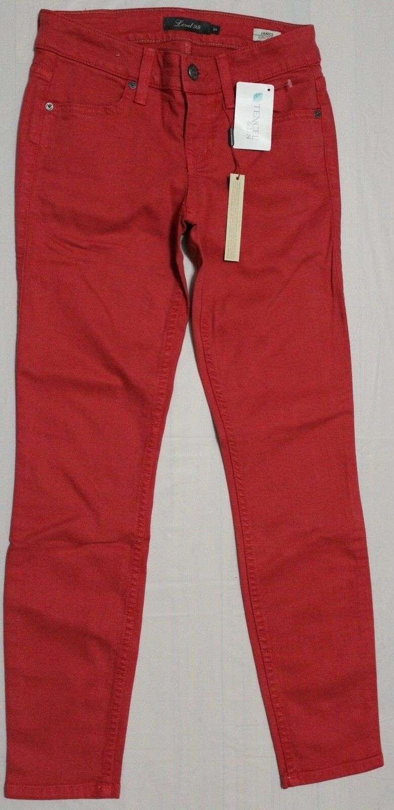 LEVEL 99 JANICE SHERBET ULTRA SKINNY JEANS US 24