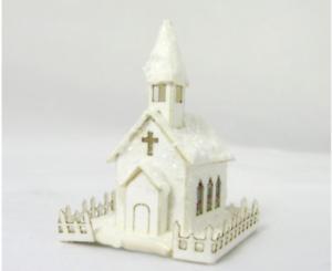 "/""Country Church/"" Miniature Putz House Kit CHM"