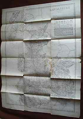 1860s Map Of Lancashire By Edward Weller - Published Cassell Petter Galpin