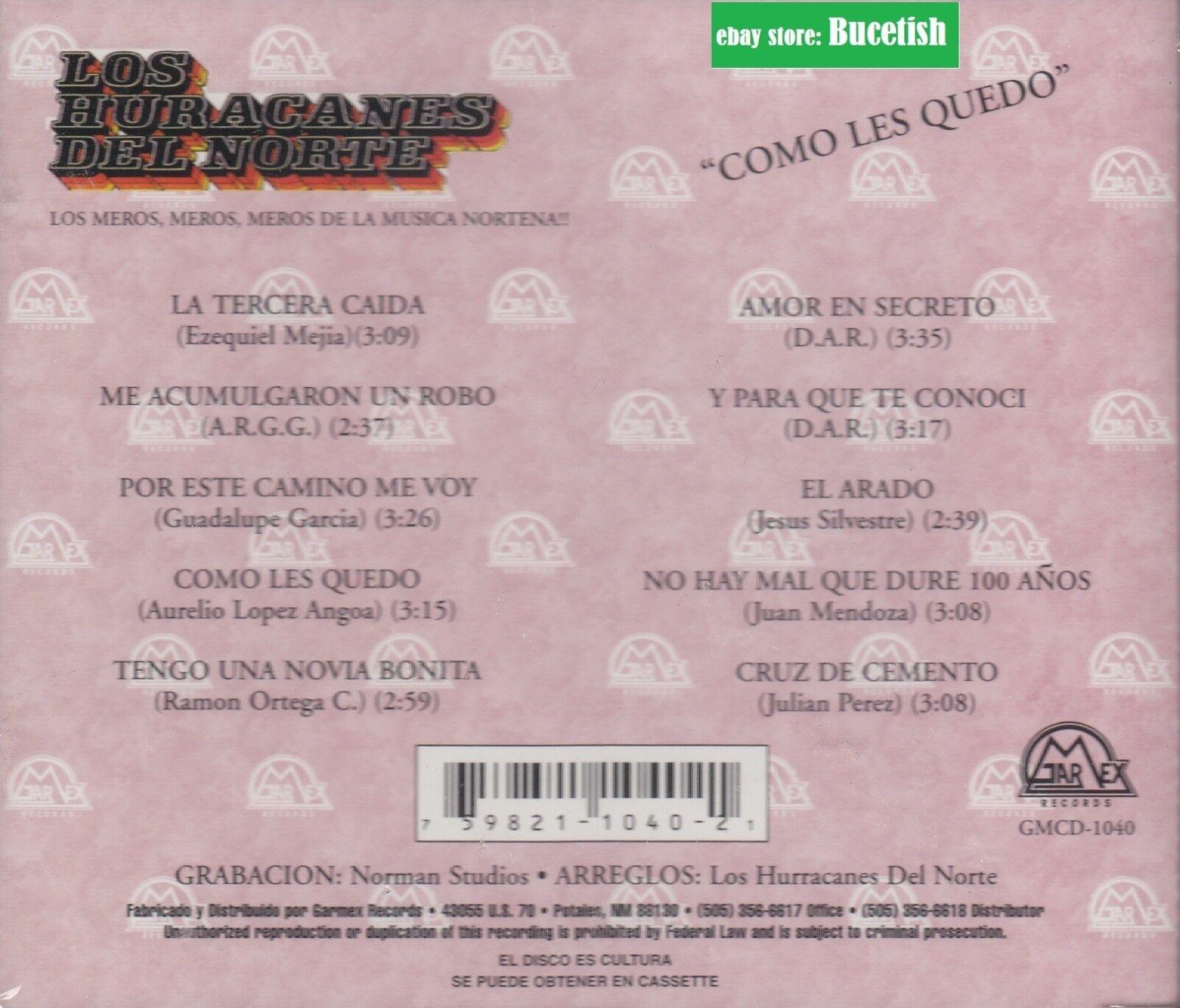 Los Huracanes Del Norte Como Les Quedo Cd New Nuevo Sealed For Sale Online