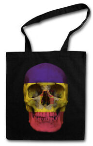 CLASSIC ANDORRA SKULL FLAG STOFFTASCHE Flagge Banner Fahne