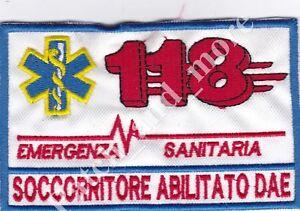 Patch-118-EMERGENZA-CROCE-ROSSA-SOCCORRITORE-DAE-cri-cm11x7-toppa-ricamo-1193