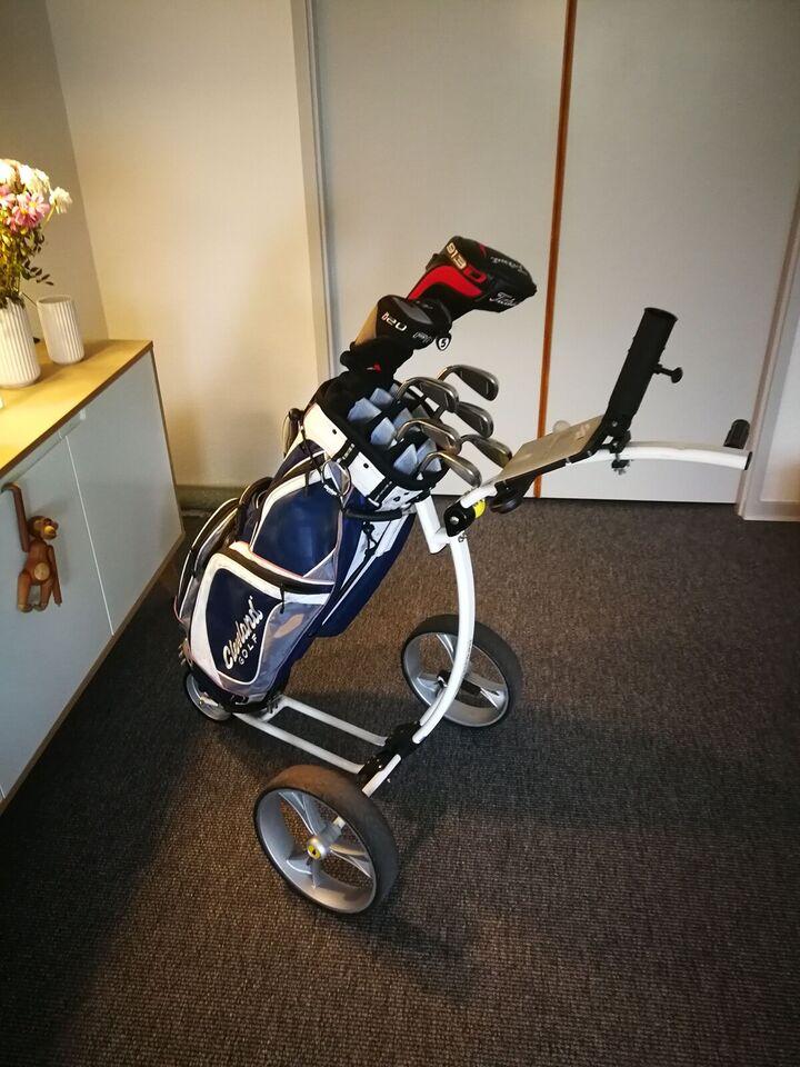 Herre golfsæt, stål, Komplet golfsæt..
