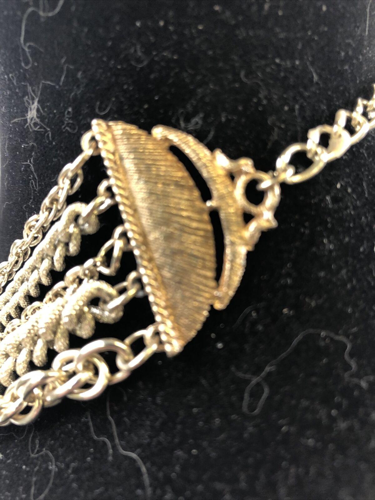Multi-Chain Silver Tone Necklace - image 5