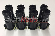 """Set of 8 1.0"""" Fuel Injector Top Hat Extender Black 14mm 14 lq4 lq9 ls1 chevy 1"""""""