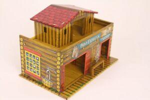 Indianer Cowoboy Western Tôle T. Cohn Poney Eypress Négoce Post Litho. Étain Toy