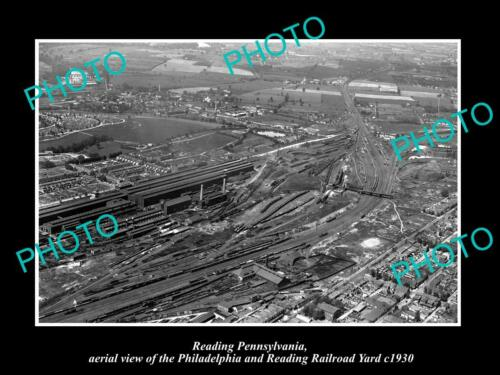 OLD 6 X 4 HISTORIC PHOTO OF READING PENNSYLVANIA, THE P&R RAILROAD YARDS c1930